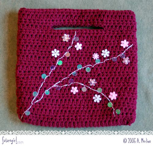 Crochet Purse : futuregirl craft blog : Seamless Crochet Purse