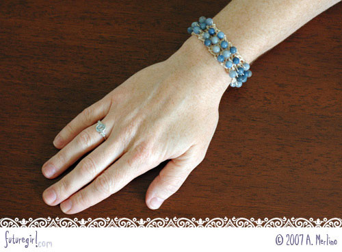Futuregirl Craft Blog Tutorial Crochet Beaded Bracelet