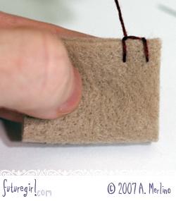 futuregirl craft blog tutorial hand sew felt using blanket stitch. Black Bedroom Furniture Sets. Home Design Ideas