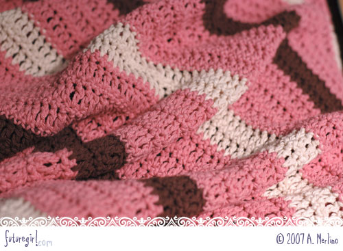 Easy Baby Blanket Crochet Patterns One Color : Easy Double Crochet Baby Blanket