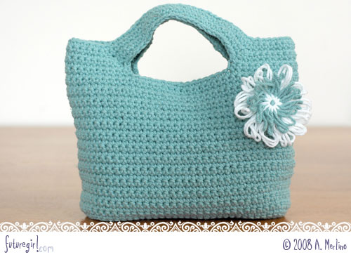 Bag Crochet Pattern Free Download : ... shoes and leaving to see a movie this flower got attached to this bag