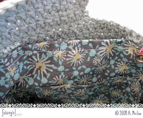 как правильно пришить подкладку к вязаной сумки - Сумки.
