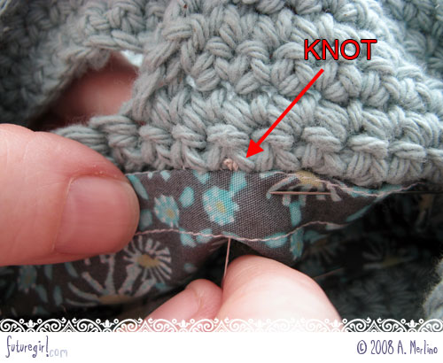 Futuregirl Craft Blog Tutorial Sew A Lining Into A Crocheted Bag