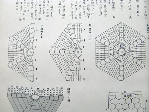 Japanese Crochet Diagrams http://www.futuregirl.com/craft_blog/2009/3/vintage-japanese-craft-book-1.aspx