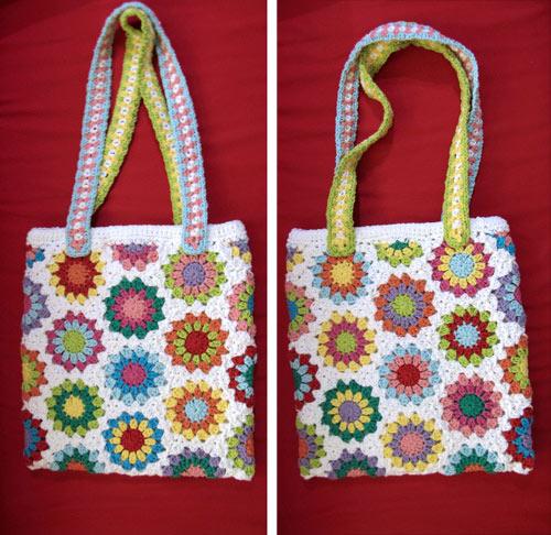 Crochet Hexagon Bag : Its a crochet granny hex bag for Diane of craftypod.com . It was a ...