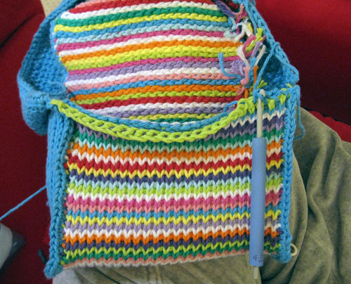 unearthed my Tunisian crochet purse (from a planetjune.com pattern ...
