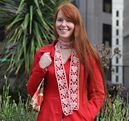 futuregirl craft blog : Crochet Heart Scarf